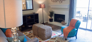 A view of the living room inside annex