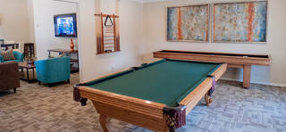 Pool table in the gameroom at annex