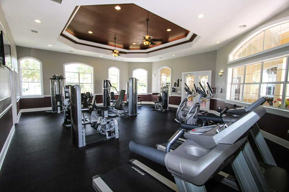 Fitness center at our apartments in brandon