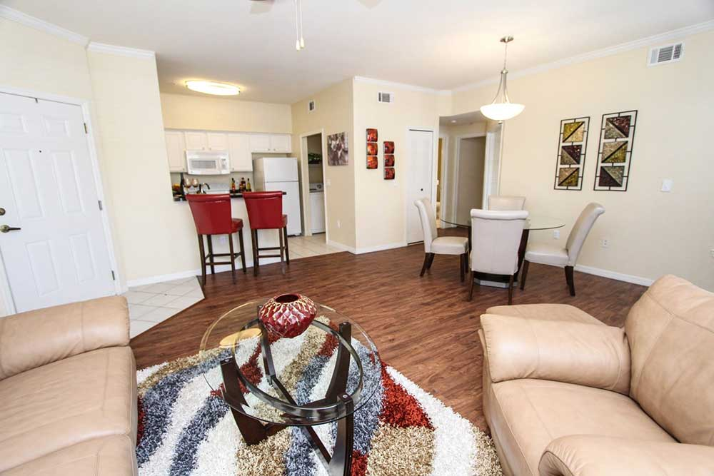 Hardwood floors at our apartments in brandon