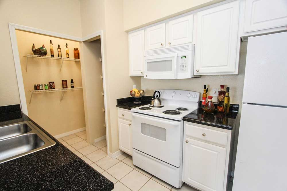 Kitchen pantry at our apartments in brandon