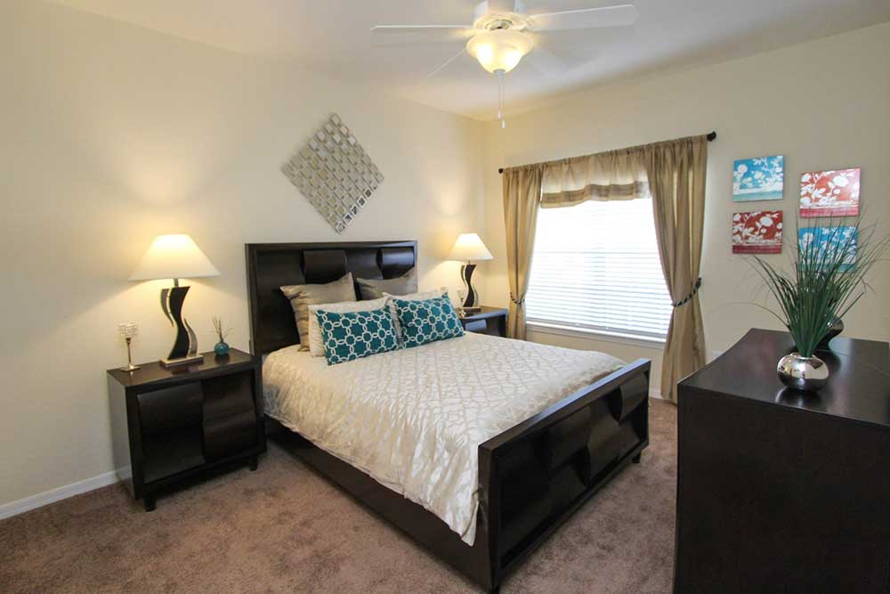 Master bedroom at our apartments in brandon