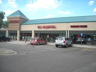 An exterior view of the Centennial animal hospital