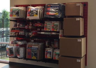 16 red inventory display