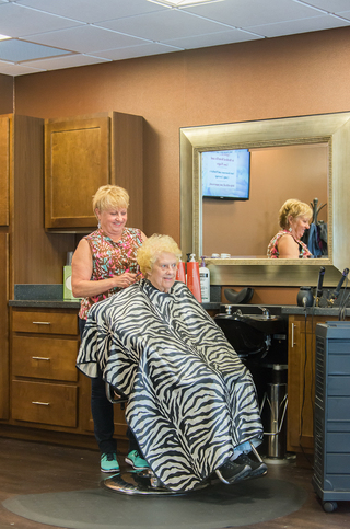 Beauty salon at our senior living facility in loveland