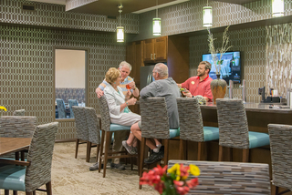 Dining room at our senior living facility in loveland