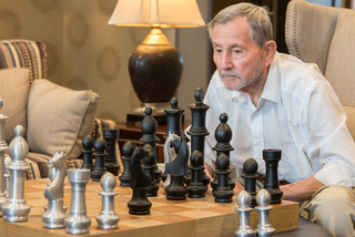 Giant chess at our senior living facility in loveland