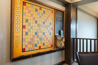Giant scrabble board at our senior living facility in loveland