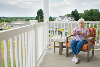Great views at our senior living facility in loveland