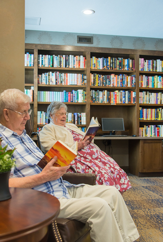 Library at our senior living facility in loveland