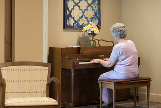 Piano at our senior living facility in loveland