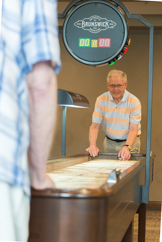 Shuffleboard at our senior living facility in loveland