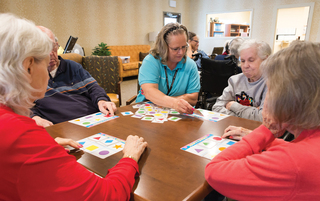 Reaganpark gallery residents playing games