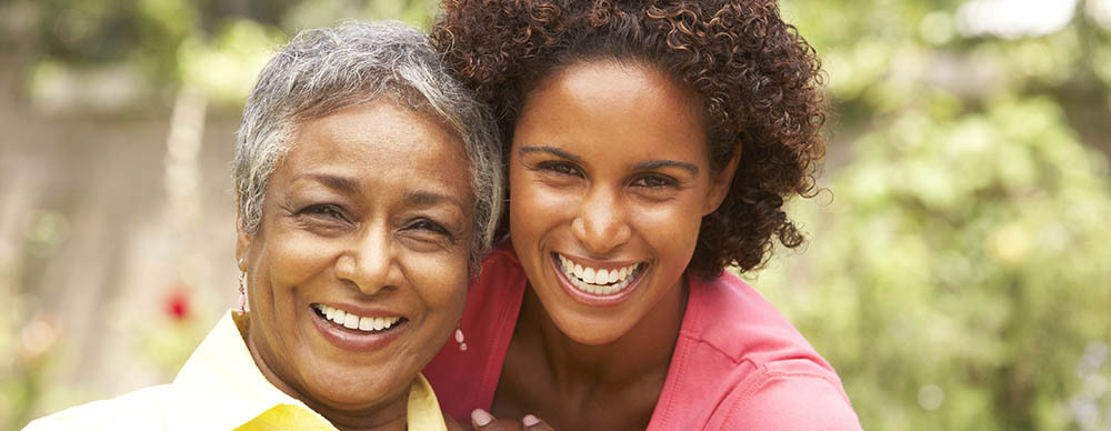 Mother and daughter at skilled nursing by saber