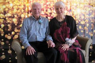 Happy couple at our senior living home in la porte