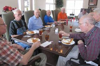 Mens group at our senior living home in la porte