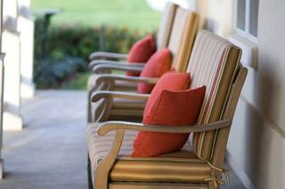 Porch chairs at parsons house preston hollow