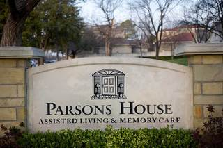 Sign at parsons house preston hollow