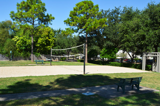 Enclave volleyball court