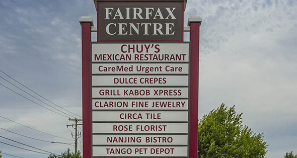 Spaces available for rent at Fairfax Centre in Fairfax