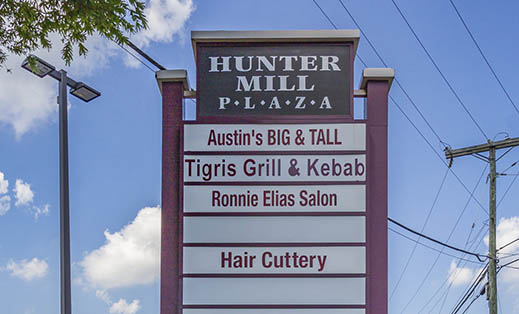 Customer demographics at Hunter Mill Plaza in Oakton