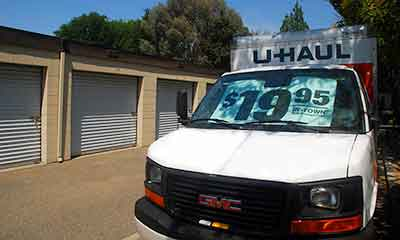 U haul rentals at storage solutions