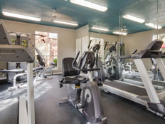 Fitness center at Crystal Bay