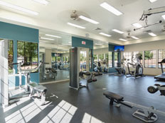 Fitness center at Windmill Landing Apartments