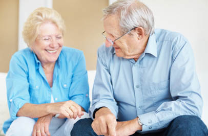 Happy senior couple at Broadmore Senior Living at Hagerstown.