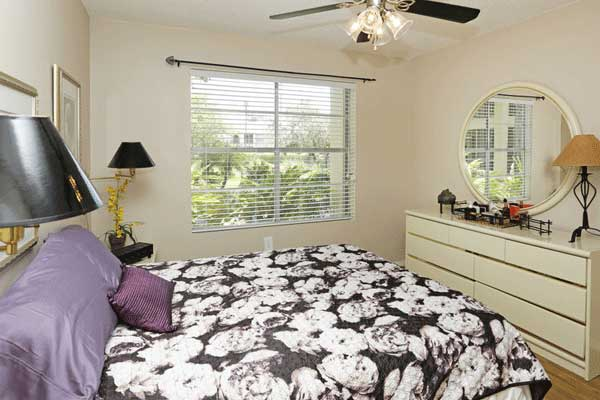 Bedroom at our bradenton apartment homes