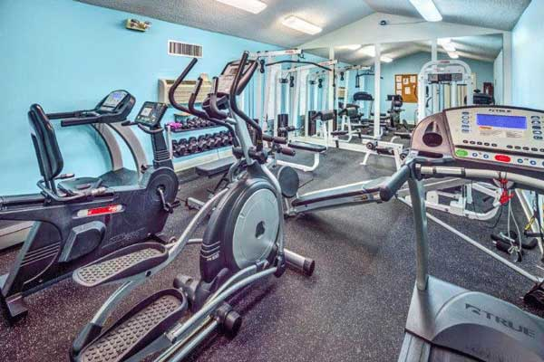 Fitness center at our bradenton apartment homes
