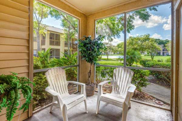 Screened in porch at our bradenton apartment homes