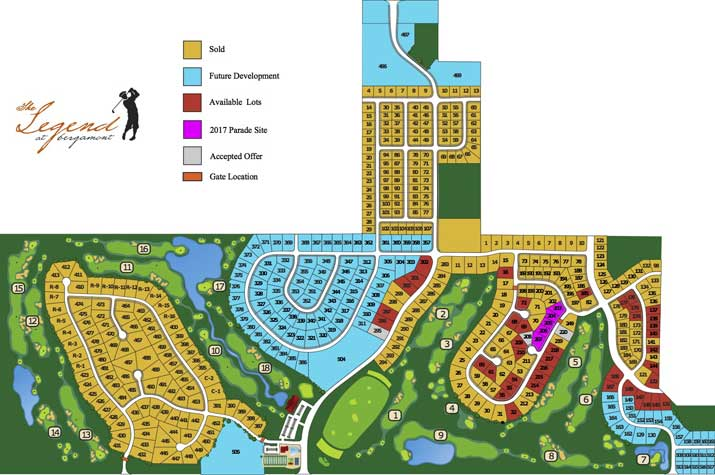 Site Map of Lots
