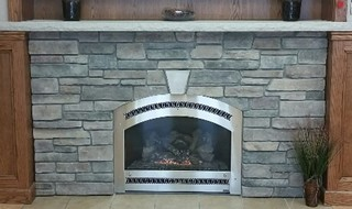 Whitestone fireplace