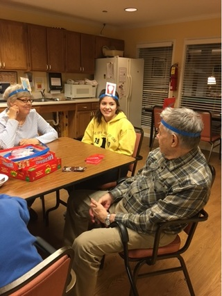 Game night volunteers the birches assisted living 3