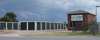 Little elm self storage main entrance