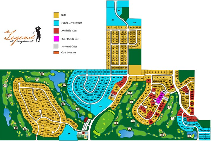 Site map of Legends at Begamont