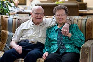 Happy couple at our senior living home in frisco