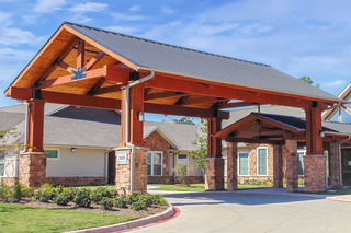 Photo tour assisted living in spring texas front entry driveway