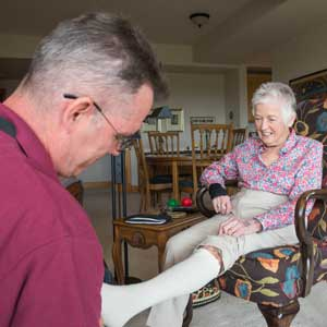 Residents receiving care