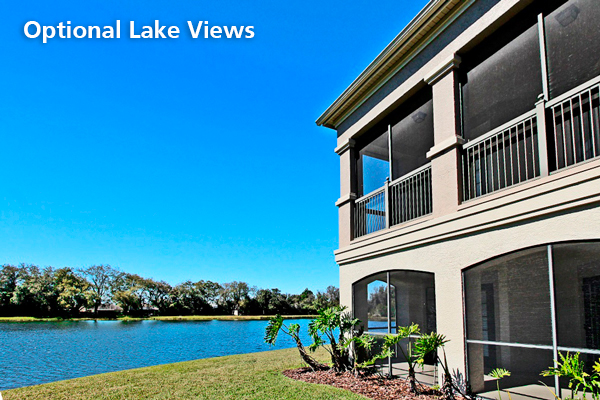 Optional lake views