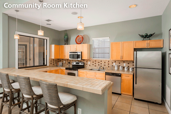 Community room kitchen