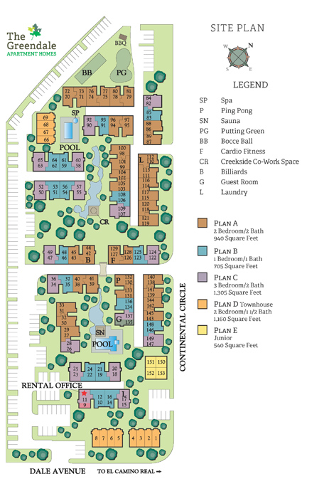 Junior 1 2 and 3 Bedroom Apartments in Mountain View with Two