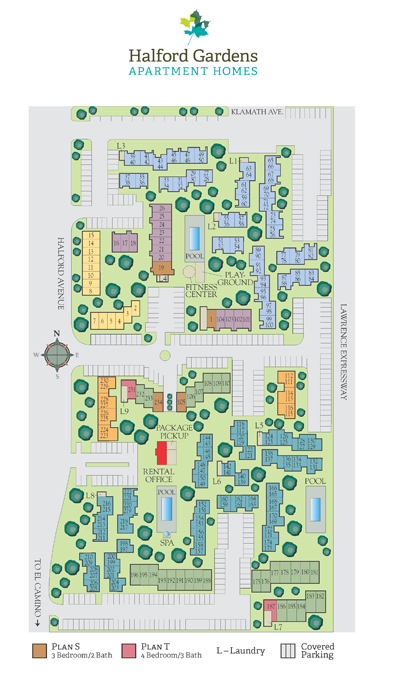 View Halford Gardens Apartments Site Map
