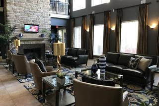 Beautiful living room at the abbey on lake wyndemere