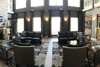 Spacious living room at the abbey on lake wyndemere