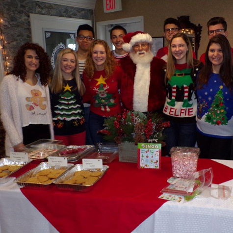Junior Leadership students with Santa