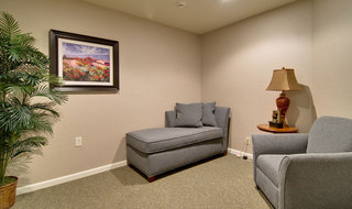 Large relaxing room in marshall at memory care community