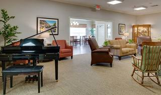 8 community space and piano lounge