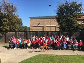 Group photo of Parsons House Preston Hollow residents and staff